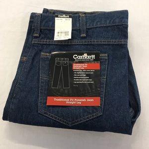Carhartt Men's Trad. Fit Prewash Jean, 36X32 NEW